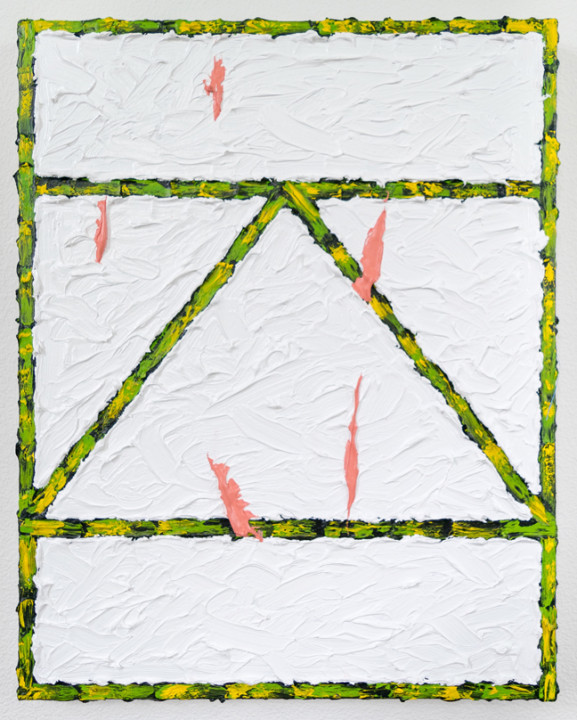 Bad Girl Bad Girl, 2017, acrylic on canvas, 20 x 16 inches.