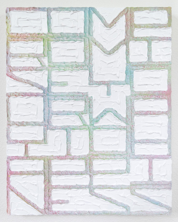 Compromise Your Way to Happiness, 2017, acrylic on canvas, 24 x 20 inches.