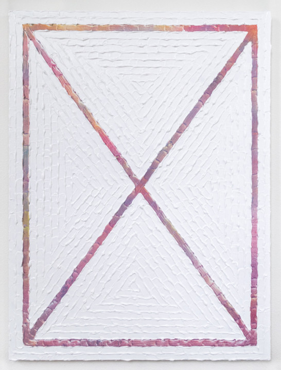 Here I Am Until I Am Not, 2017, acrylic on canvas, 40 x 30 inches.