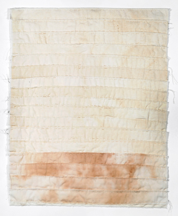 Allison Manch, Ramona, 2014, embroidered cotton. 22 x 18 inches.
