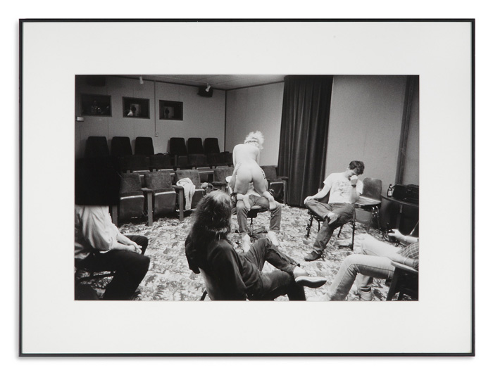 Glenn Rudolph, Christmas Party, 1995, silver print, 12 x 18 inches.