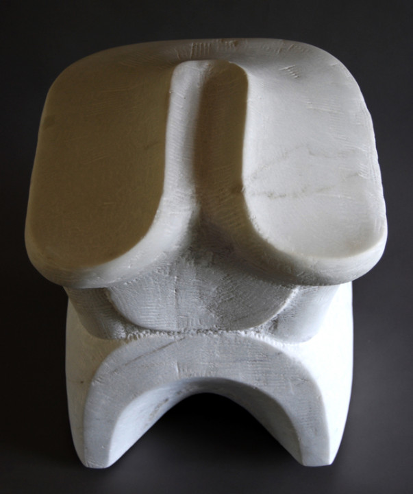 Seth David Friedman, Untitled, 2014, Carrara marble, 18 x 14 x 15 inches.