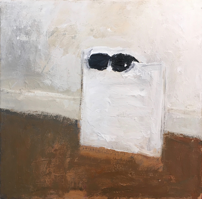 Andy Heck Boyd, Invisible Man Chevy Chase, 2016, acrylic on canvas, 12 x 12 inches.