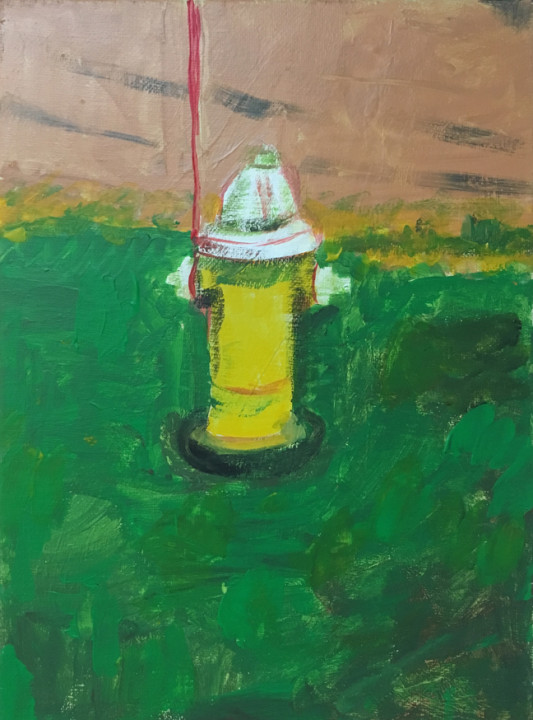 Andy Heck Boyd, Still Life, 2016, acrylic on canvas, 12 x 9 inches.