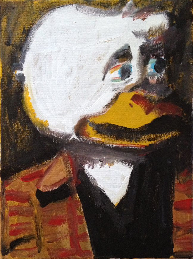 Andy Heck Boyd, Howard the Duck, 2016, acrylic on canvas, 12 x 9 inches.