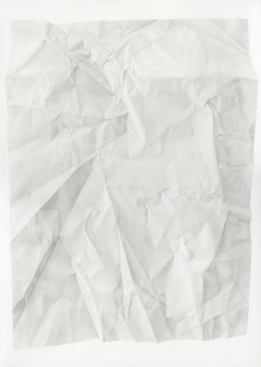 Juliet Jacobson, Birthday Tequila (Recto Vertical Flip) 2015, graphite on paper, 20 x 14 inches.