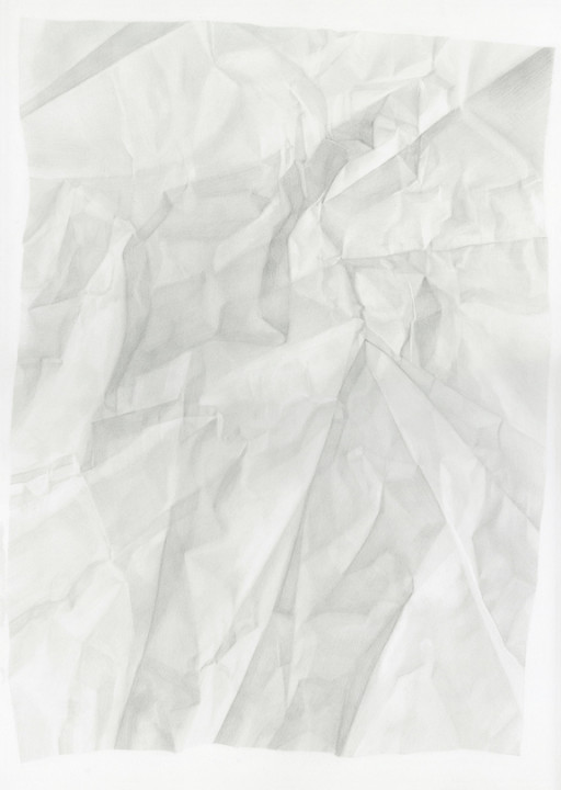 Juliet Jacobson, Birthday Tequila (Verso Horizontal Flip Reverse Light) 2015, graphite on paper, 20 x 14 inches.