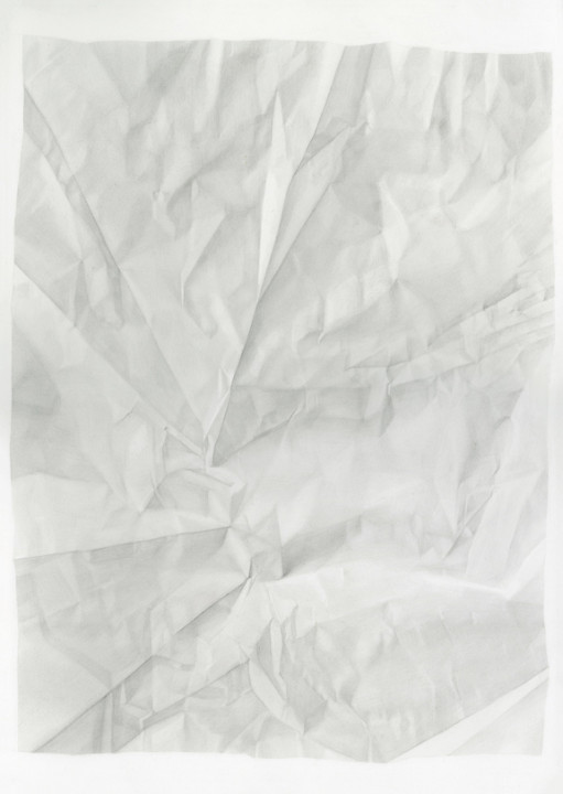 Juliet Jacobson, Birthday Tequila (Verso Vertical Flip Reverse Light) 2015, graphite on paper, 20 x 14 inches.
