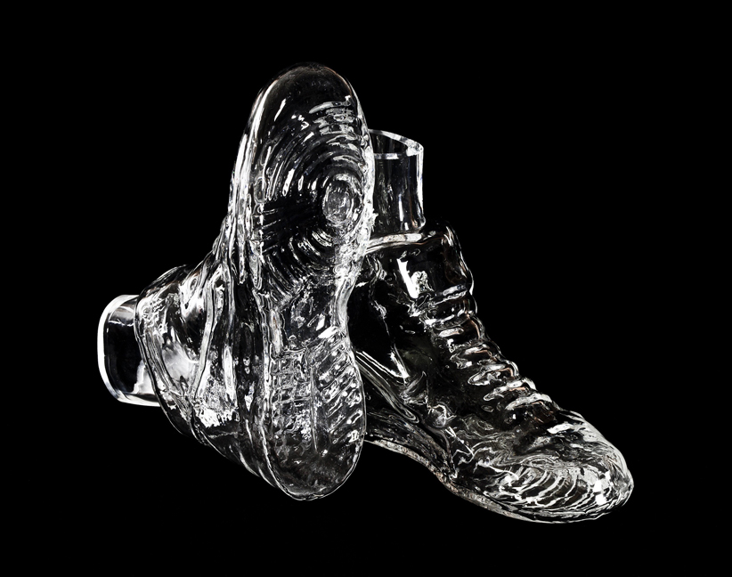 Mike Simi, Nike Dunk Mid Beer Boot, 2014, blown glass, 8 x 11 x 8 inches.