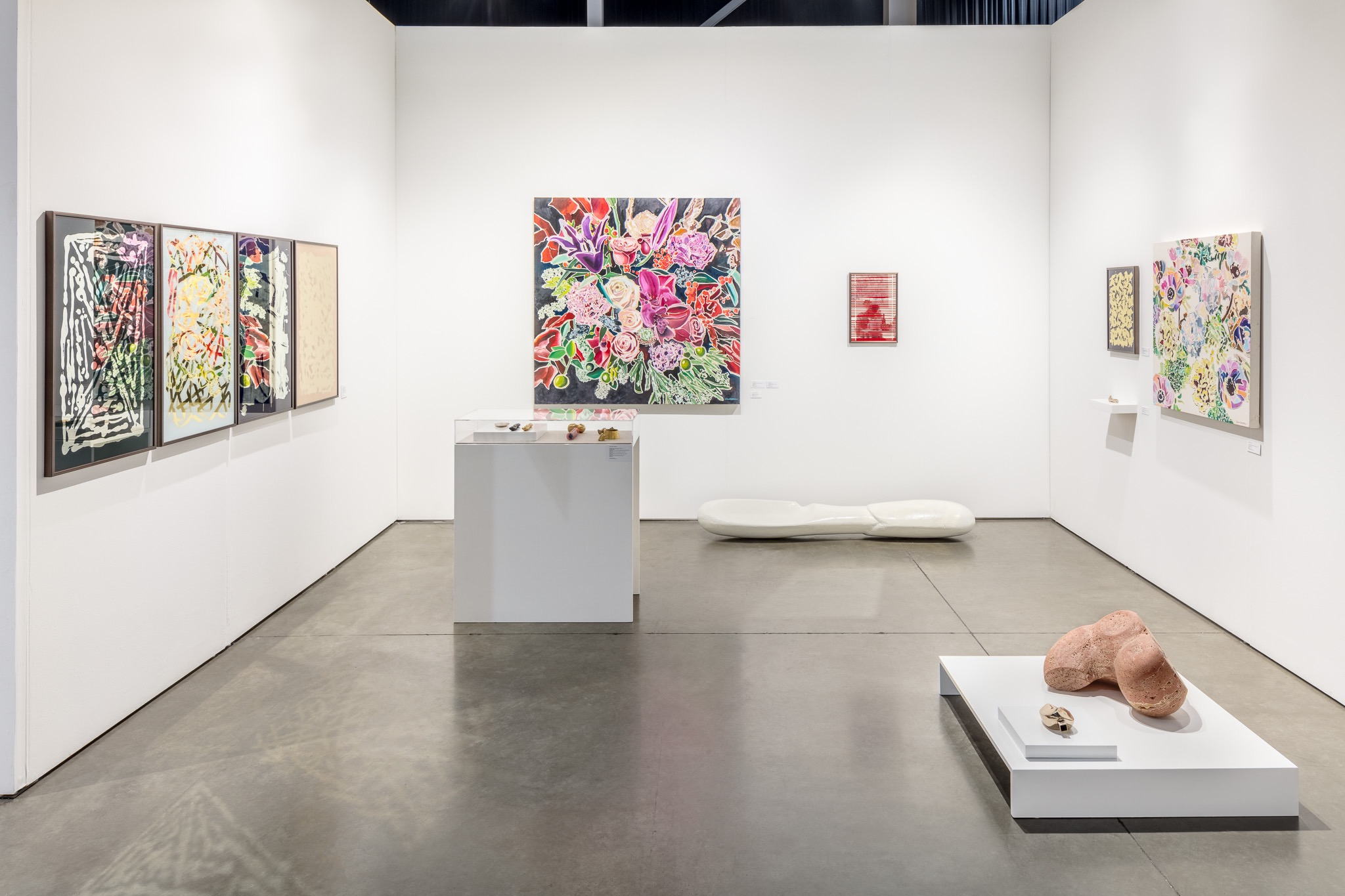 SEASON Booth D6 with works by Sean Barton and Seth David Friedman. Photo by Nathaniel Willson. © Nathaniel Willson 2016. All rights reserved.