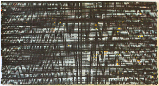 Anthony Palocci Jr., Looking Up, 2015, gouache on paper, 12 x 24 inches.