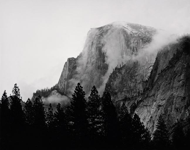 Ryan McIntosh, Half Dome Yosemite California, 2018, silver gelatin print, 8 x 10 inches.
