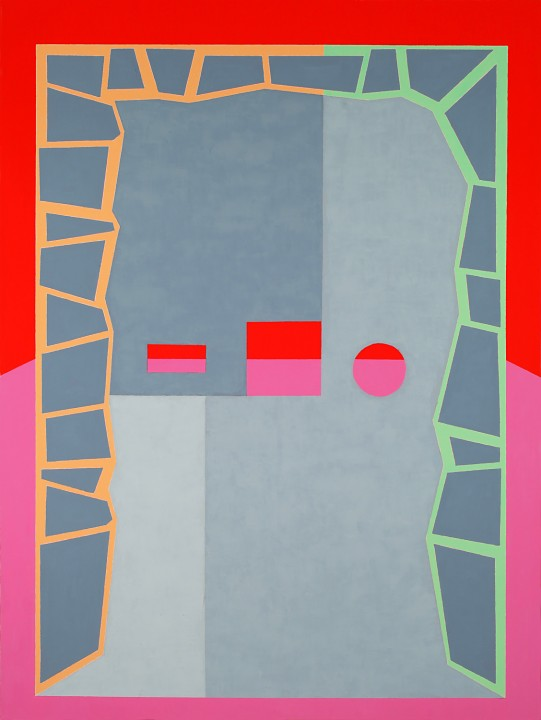 Michael Ottersen, Mary Krishna, 2012, oil and acrylic on canvas, 64 x 48 inches.
